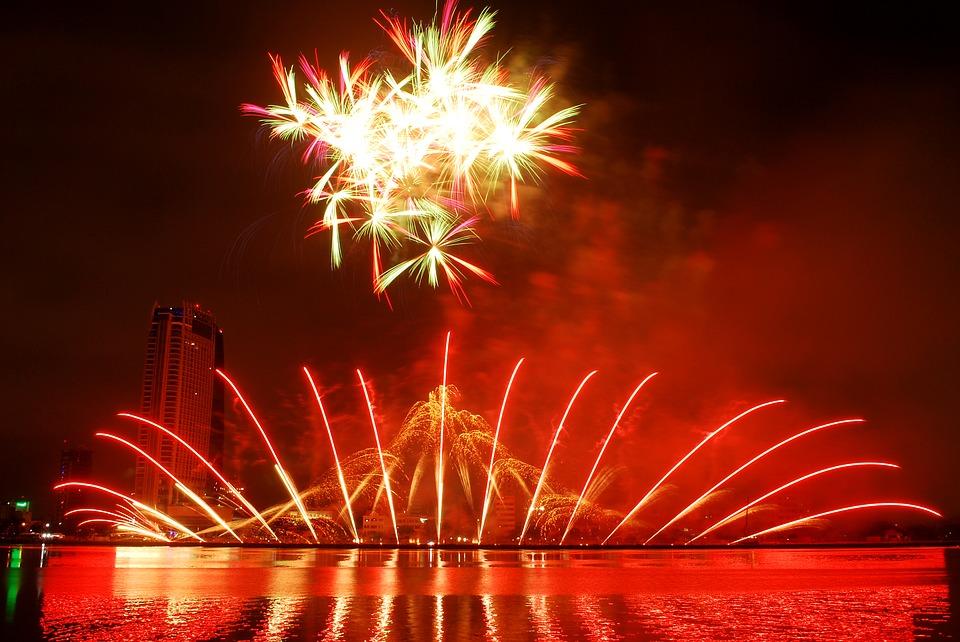 fireworks, the international fireworks competition, fireworks in da nang