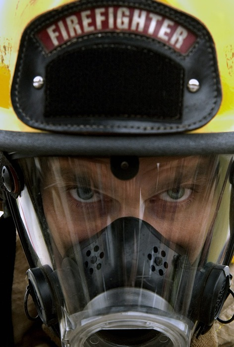 fireman, helmet, protection