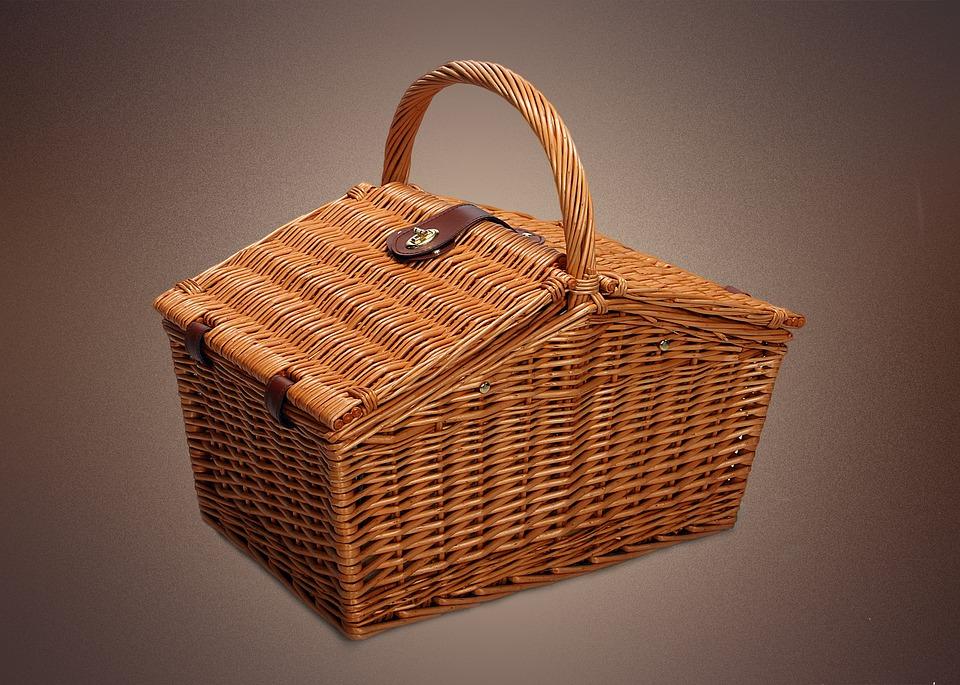 basket, picnic, spring