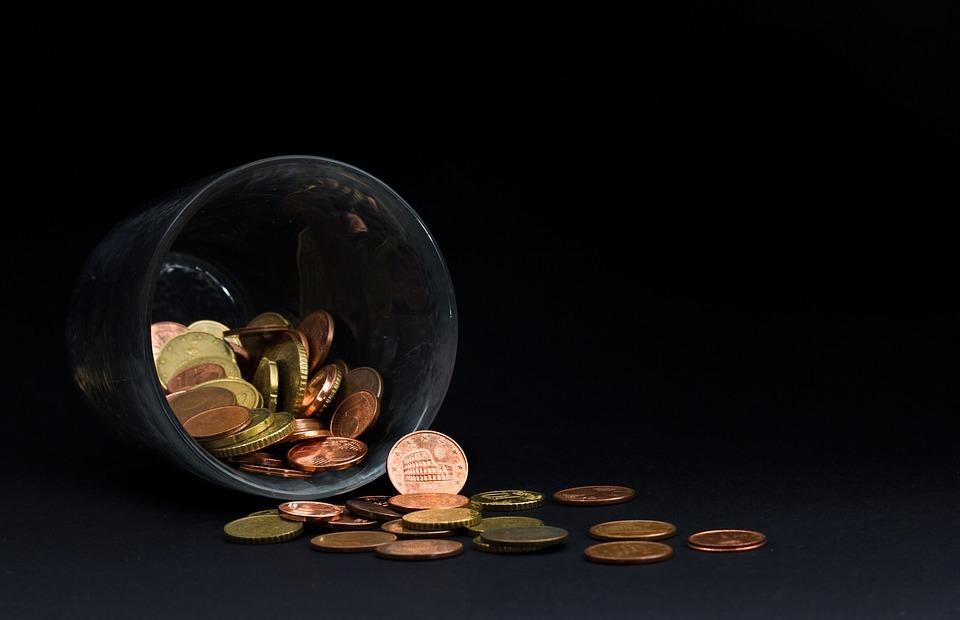money, euro, money box