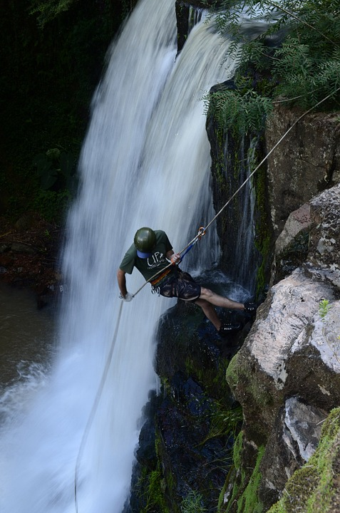 waterfall rappelling, waterfall, colonial corner