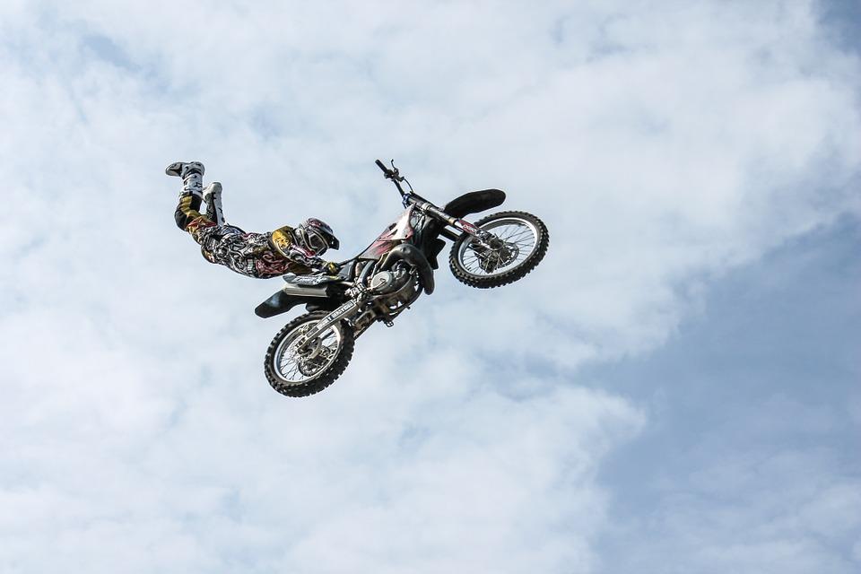 biker, motorcycle, stunt