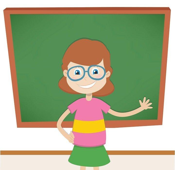teacher, blackboard, teach