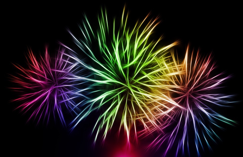 fireworks, new year\'s eve, new year\'s day