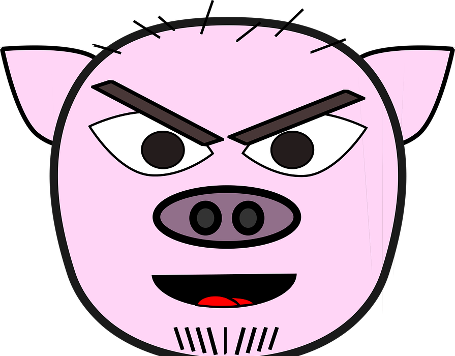 angry, anthropomorphized animals, evil