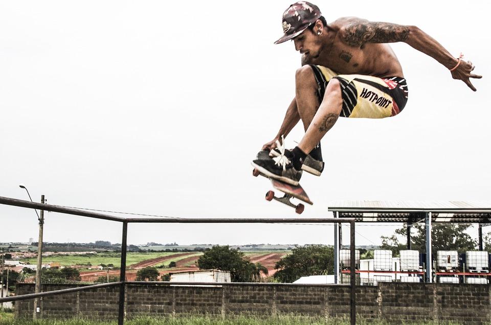 sport, skateboard, fly