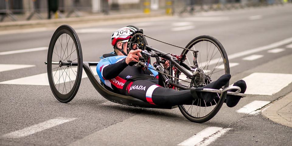 handicap, wheels, cyclist
