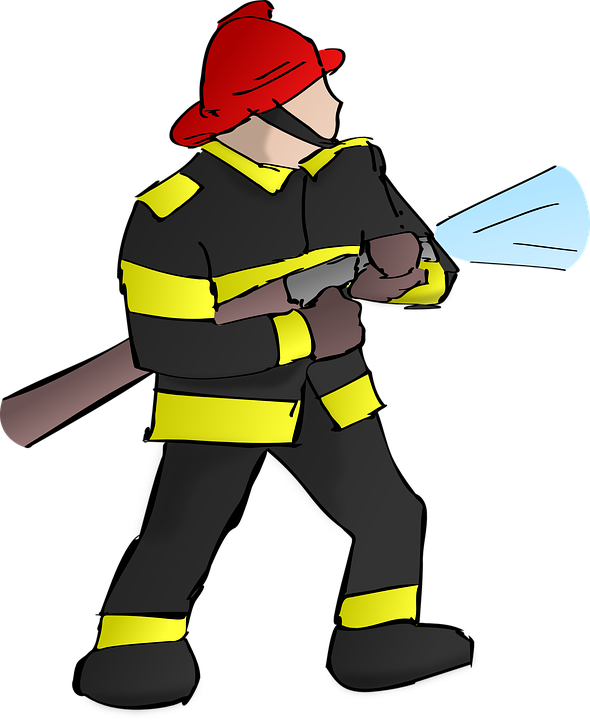 firefighter, fire, fireman