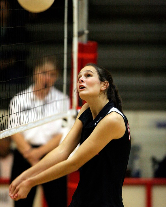 volleyball, player, volley