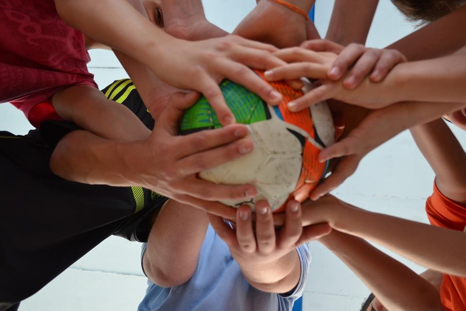 ball, friends, sport
