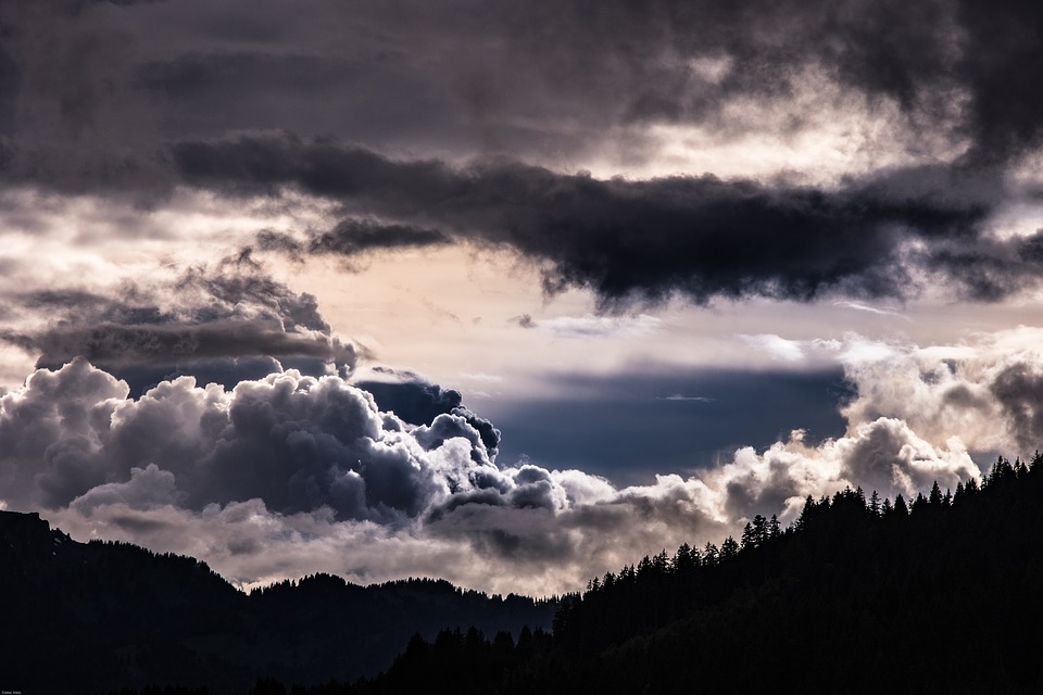 thunderstorm, clouds, storm clouds