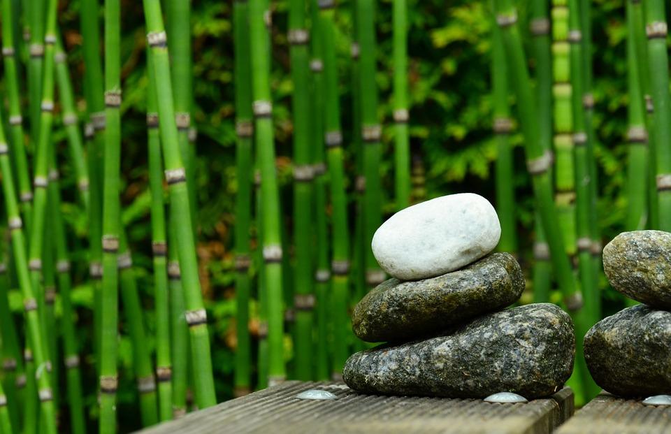 stones, bamboo, decoration
