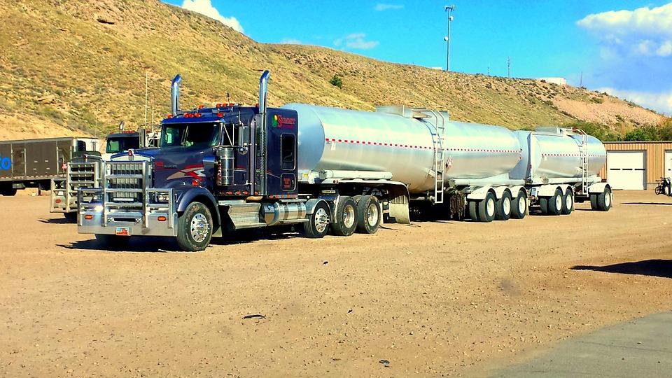 truck, fuel, load