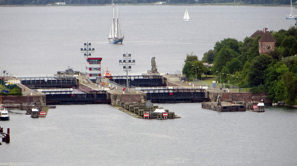 lock, northern baltic sea channel, passage