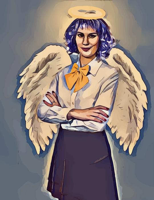 teacher, angel, halo