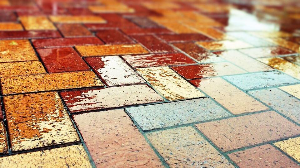 brick, street, urban street