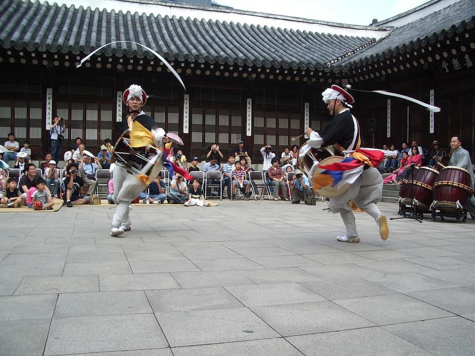 korea, dance, temple