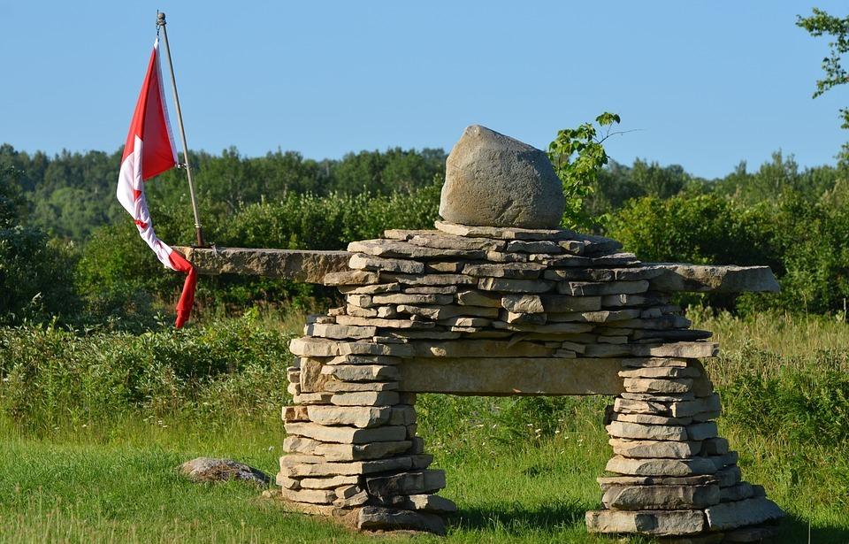 canada, inukshuk, stone