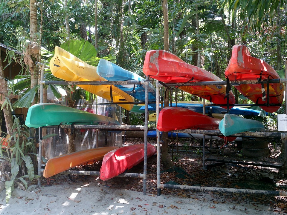 kayaks, color, kayaking