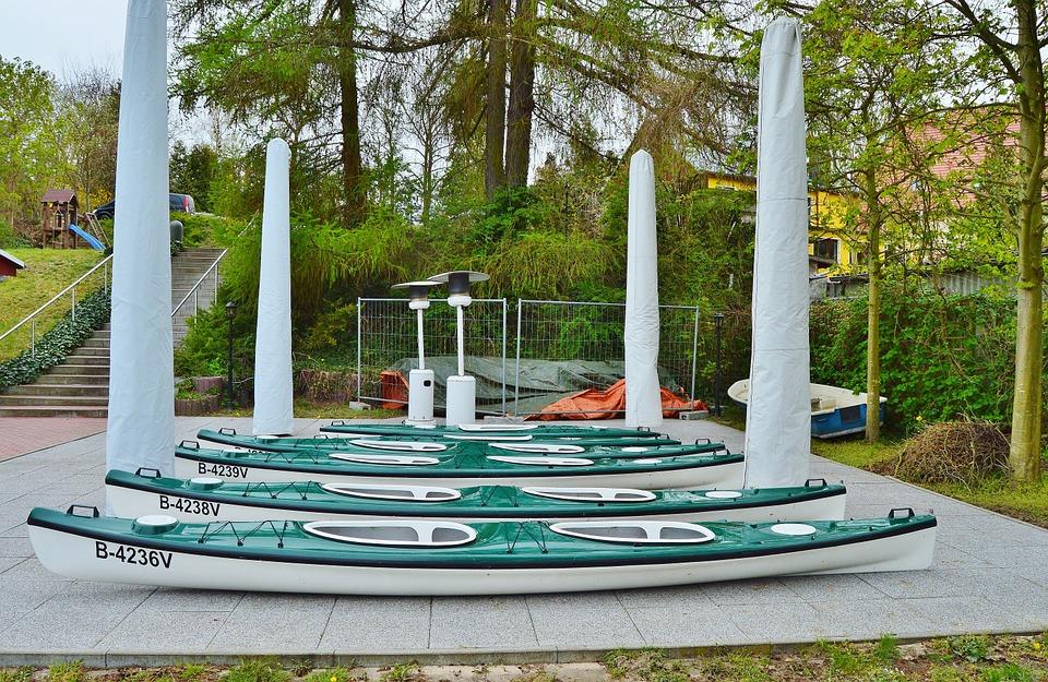 kayak, station, water sports