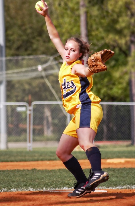 softball, pitcher, female