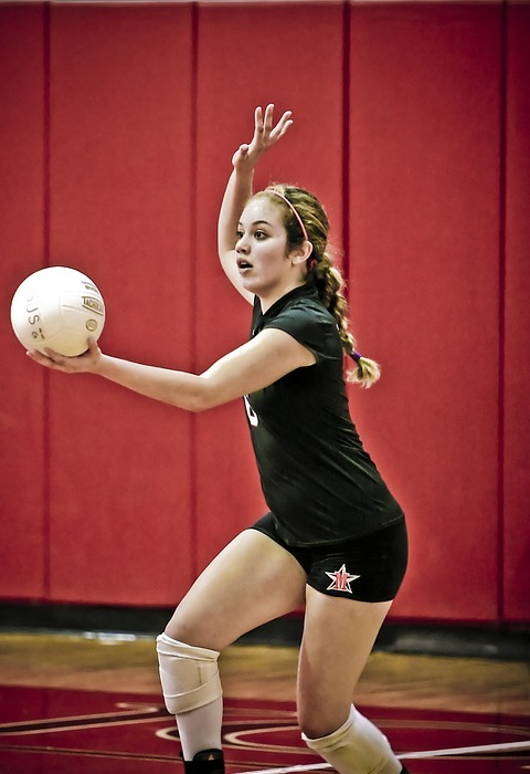 volleyball, serve, player