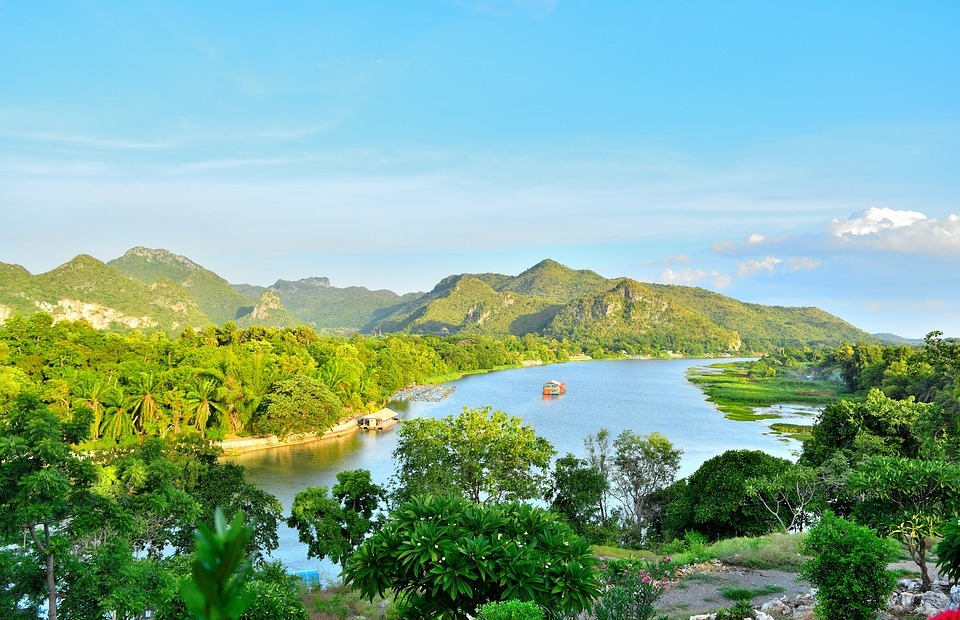 mountains, river, tourist attraction
