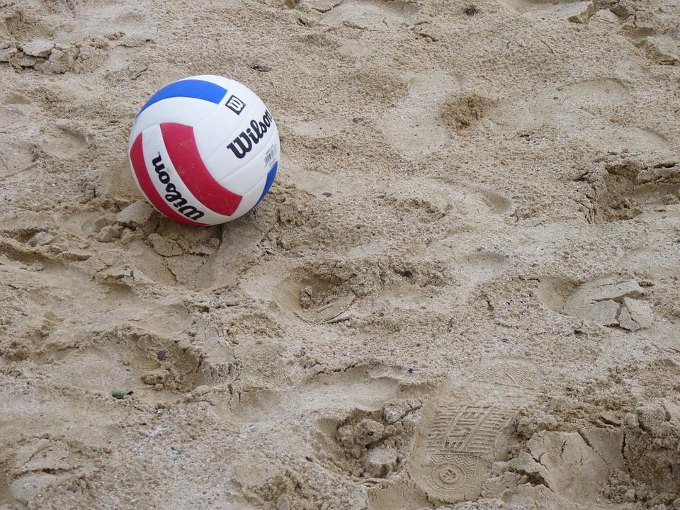 volleyball, beach volleyball, ball
