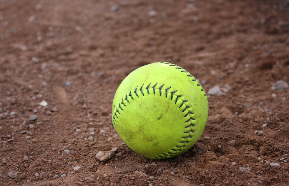 baseball, softball, clay