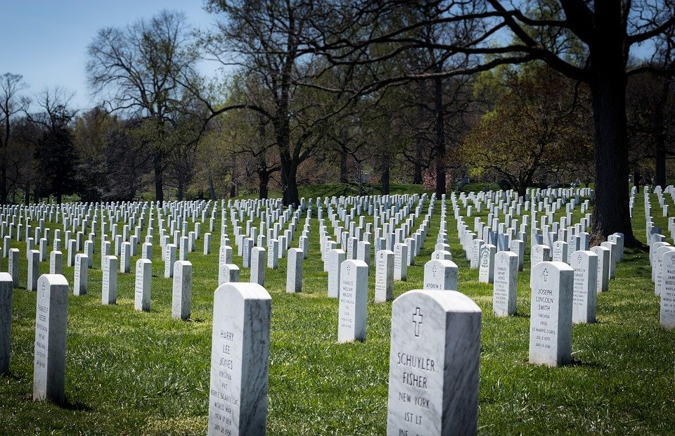 arlington national cemetery, headstones, military grave