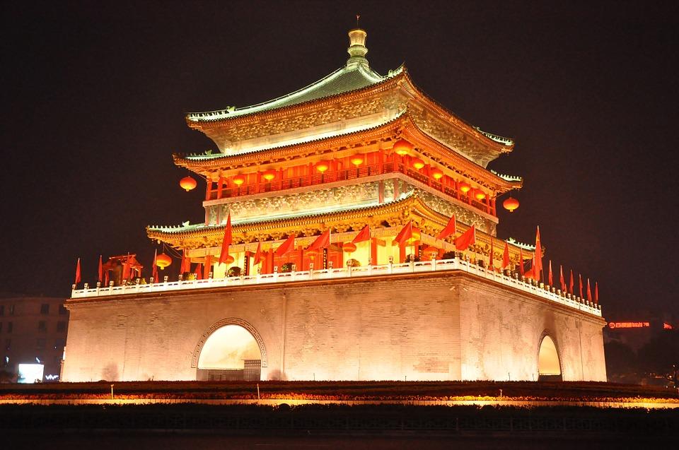 temple, pagoda, china