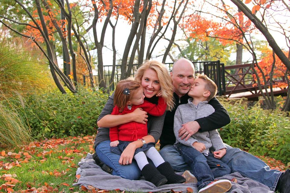 picnic, family, fall color