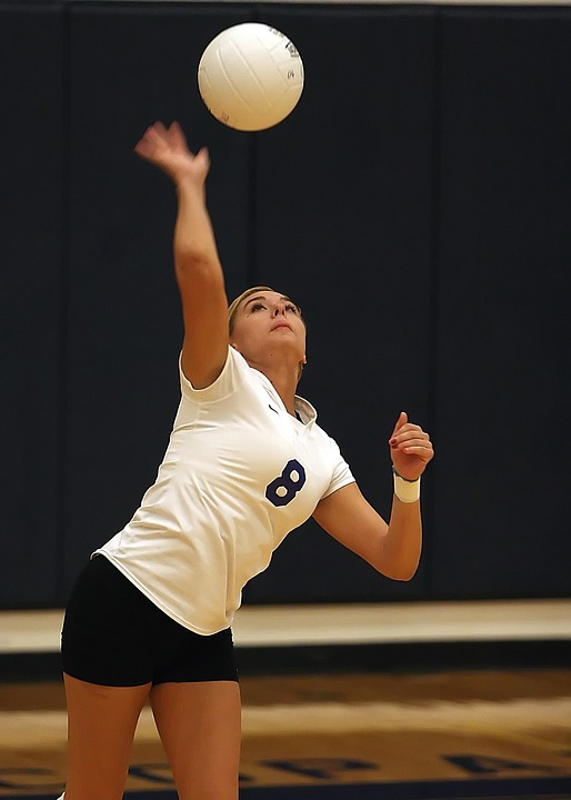volleyball, player, girl