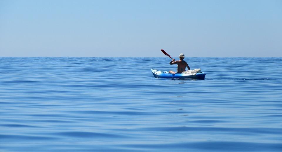 kayak, sea, côte d \' azur