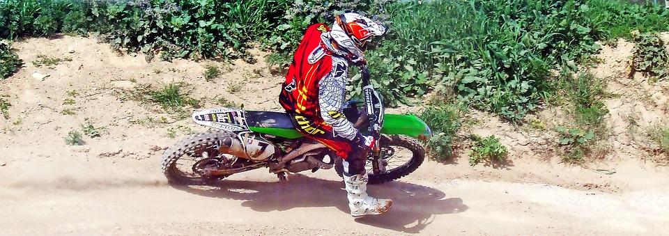 motocross, motorcycle, race