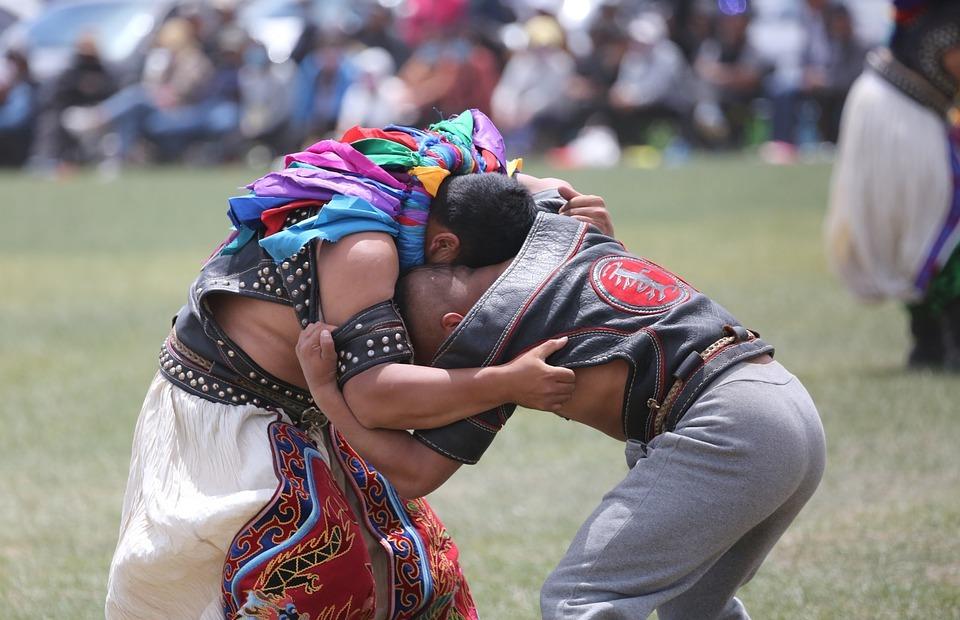 mongolian, wrestle, wrestling