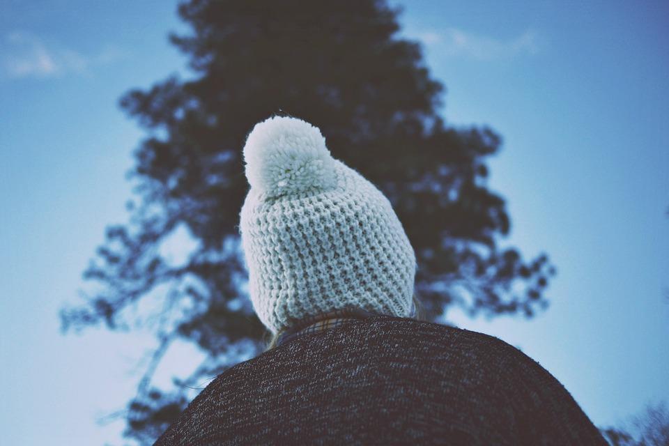 hat, toque, pom pom
