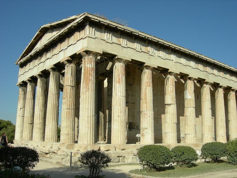 temple, greece, pantheon