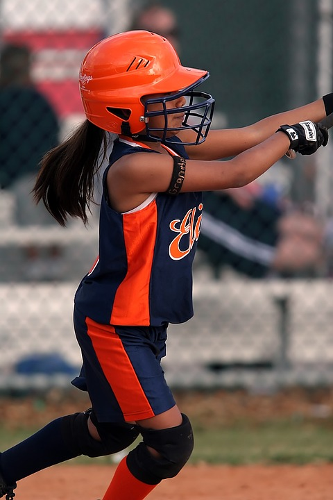 softball, girls, player