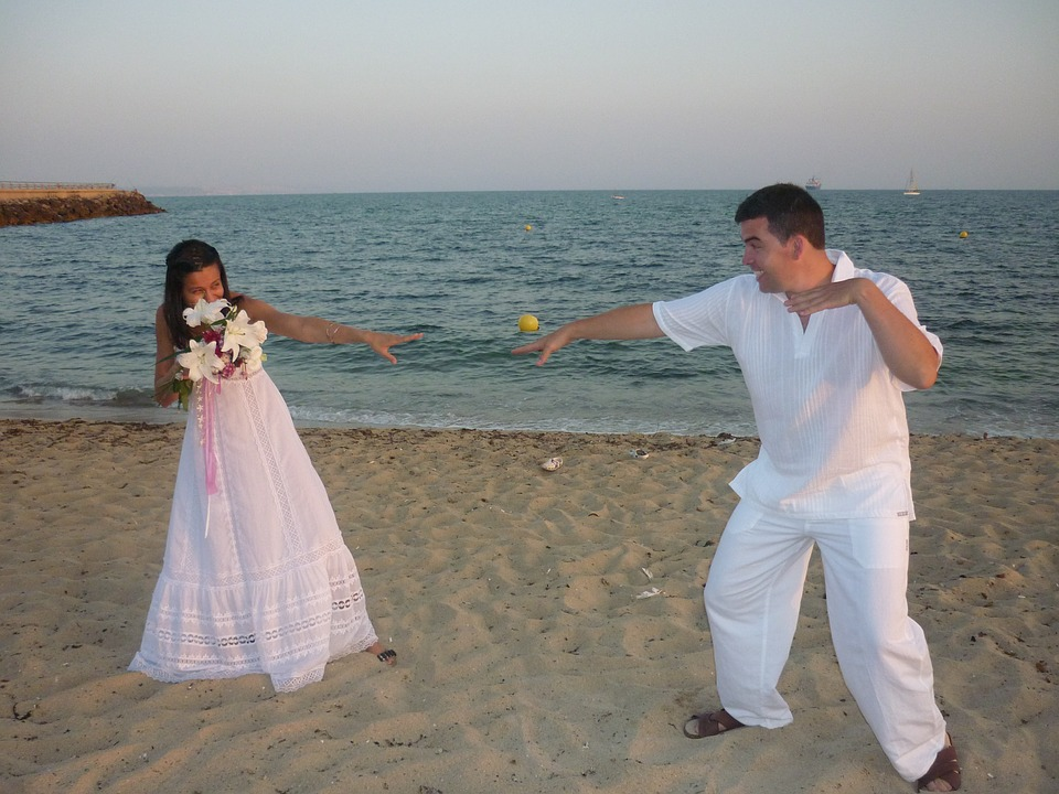 wedding, beach, marriage