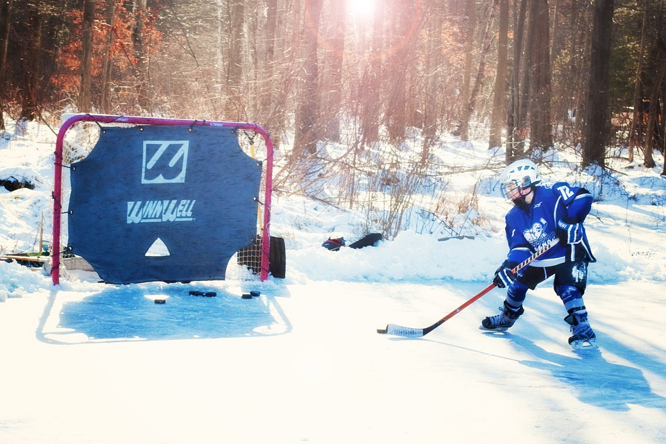 ice hockey, hockey player, young