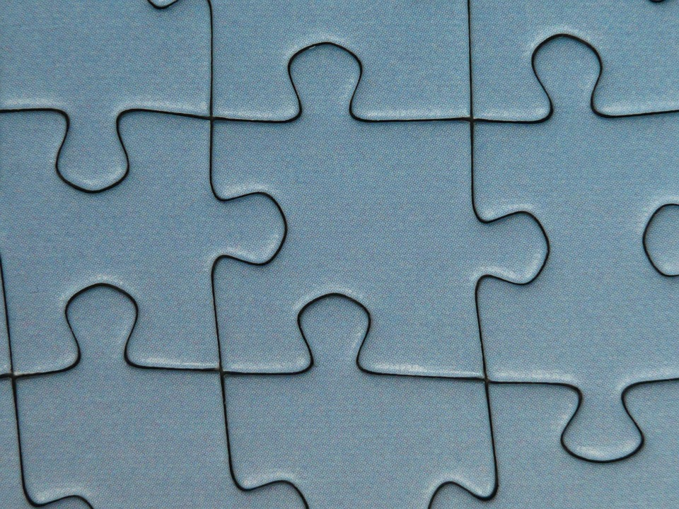puzzle, pieces of the puzzle, memory cards covered with