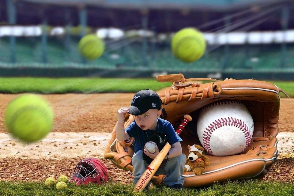 mounting, baseball, child