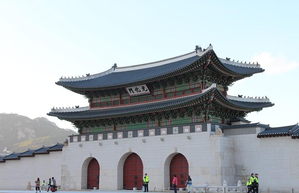 korea, seoul, gwanghwamun