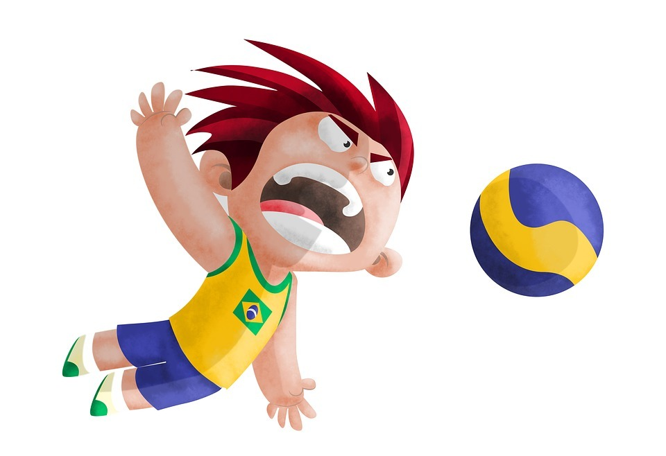 volleyball, boy, man