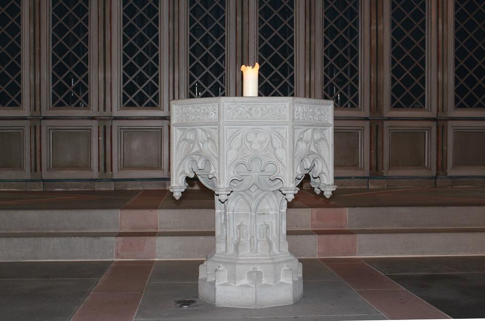 baptismal font, stonemason, art