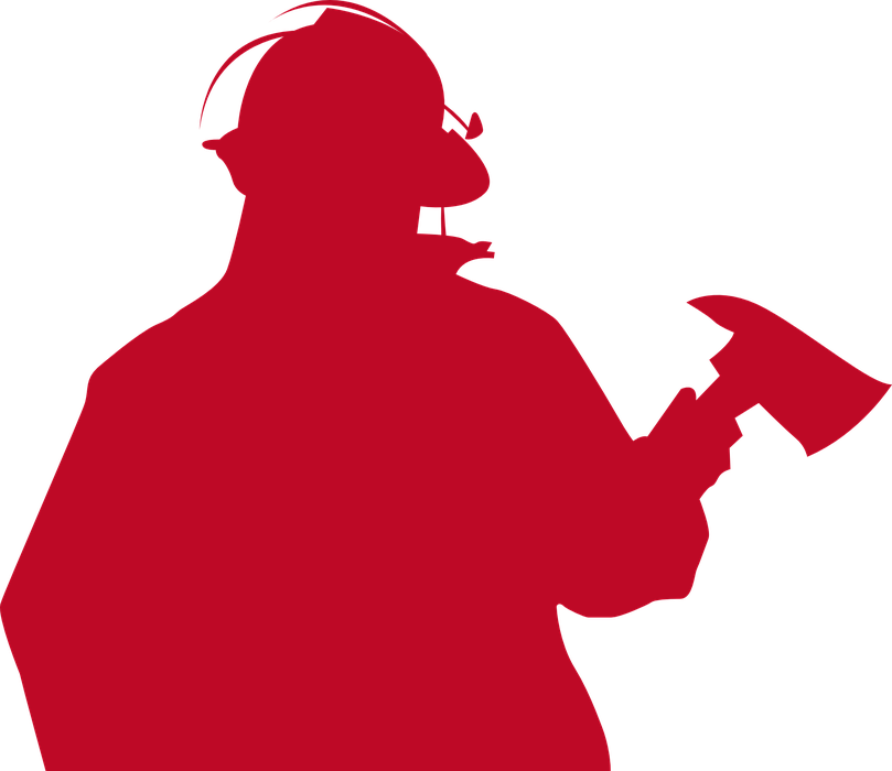 fireman, firefighter, silhouette