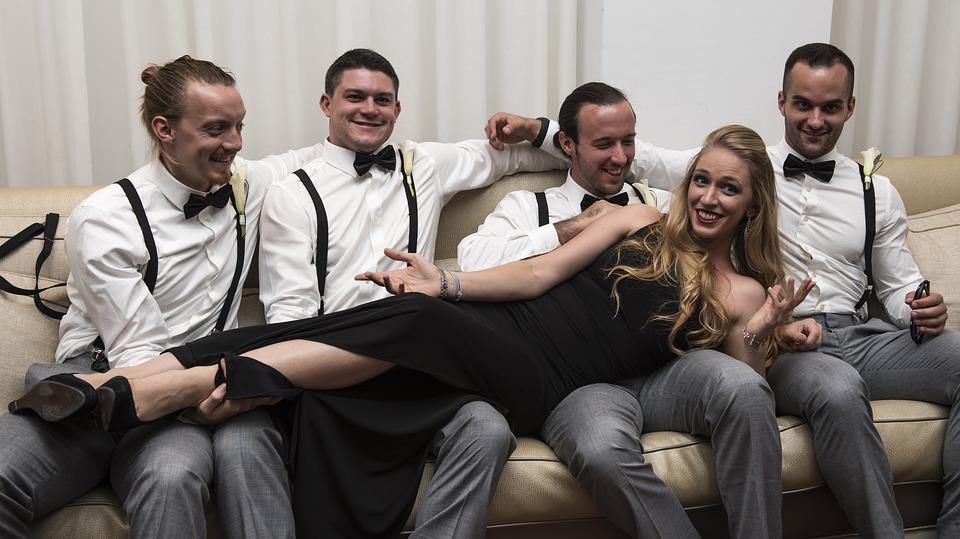 groomsmen, blond, wedding