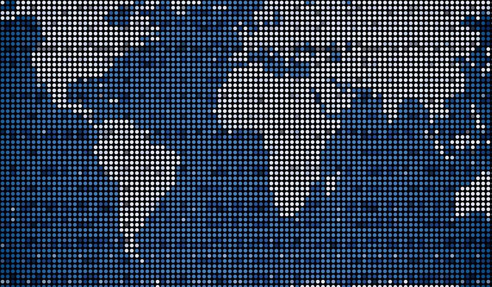 map, digital, world