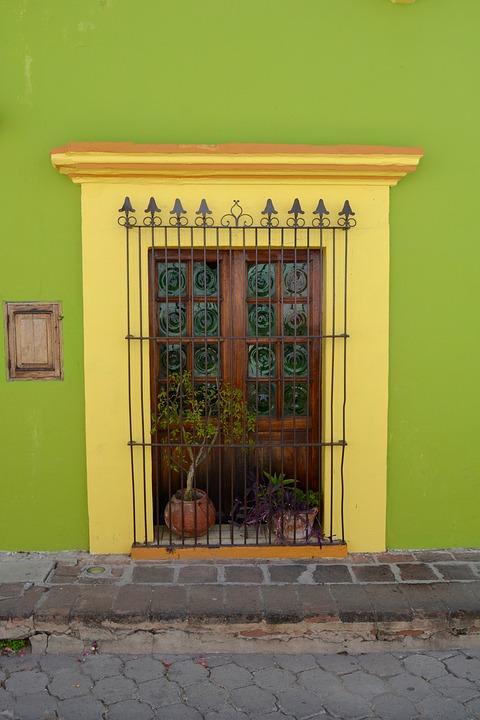 door, colonial, poplars